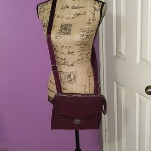 Burgundy Plush Vera Bradley Crossbody